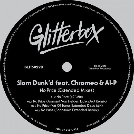 Slam Dunk'd & Chromeo Release 'No Price' On Glitterbox