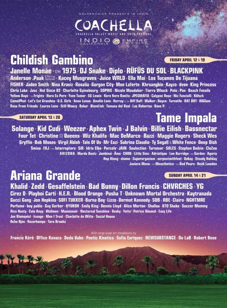 Coachella 2019 Line Up